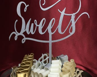 Sweets Sign, Wedding Decor, Wedding Sign, Sweets Table, Sweets Station, Dessert Table, Candy Bar, Bridal Shower Sign, Baby Shower Sign