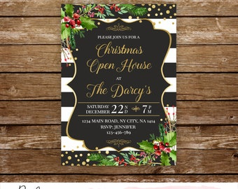 Christmas open house invitation holiday open house invitation Christmas invitation shop Christmas business invitation company invitation 291