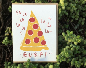 Wish you Delicious Holidays with this Falalalala Greeting Card // Fun Holiday card with a topping of cheesy humour :)