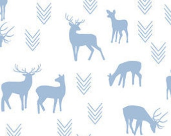 Organic and non organic Crib sheets and Mini crib sheets including 4Moms Arms Reach, Bloom baby playards etc deer fawn blue white arrows