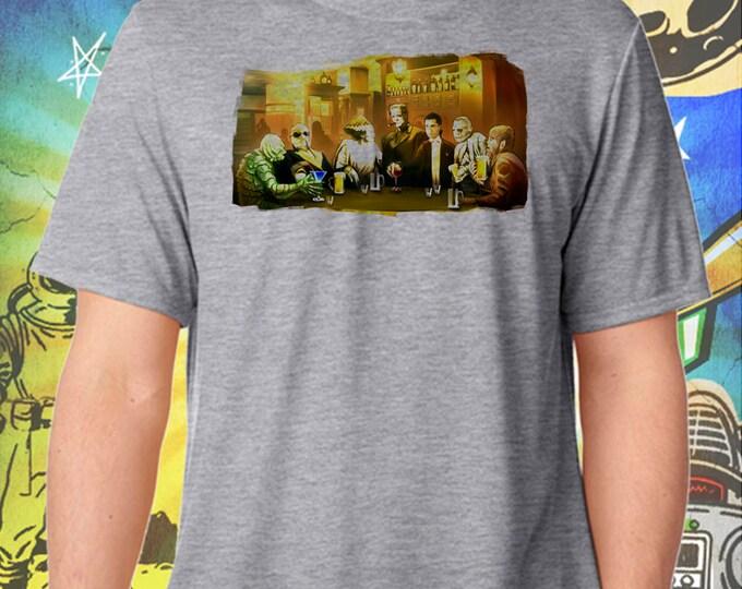 Classic Horror Pub / Men's Gray Performance T-Shirt