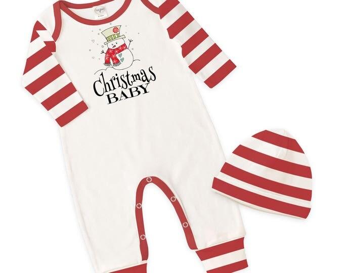 Newborn Christmas Baby Romper, Baby Boy Girl Christmas Bodysuit, Baby Girl Boy Christmas, Red Baby Romper, Snowman, Tesababe