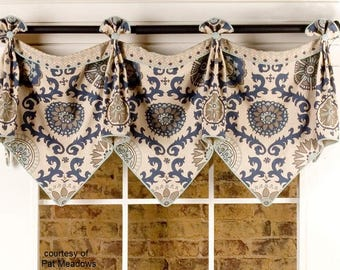 Custom Window Valance - Emma Valance - custom made (your fabrics, my linings)