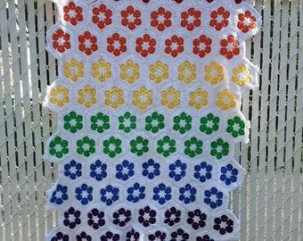 Rainbow african flower blanket