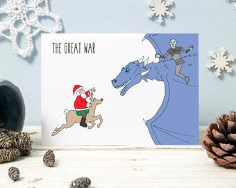 The Great War. Game of Thrones Christmas Card. Santa v. The Night King