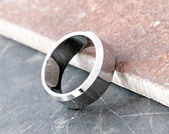 Men's Plain Curved Band Stainless Steel Ring, Wedding Band, Men's Jewellery, Plain Band, Men's Ring, Gift for Him, Stylish Men's ring, Steel