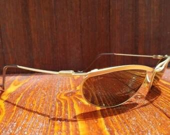Vintage Ray-Ban W2568 Orbs Predator / Olympian G15 Gold B&L Sunglasses