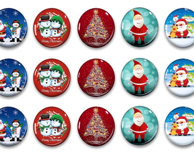 Whimsical Christmas Magnets - Gift for Her - Refrigerator Magnets - Holiday Magnets - Magnetic Chalkboard - Unique Gift - Party Favors