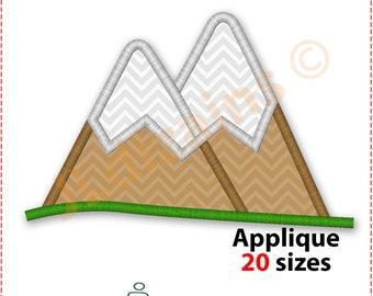 Mountain Applique Design. Mountain embroidery design. Hill embroidery. Hill applique. Embroidery design mountain. Machine embroidery design