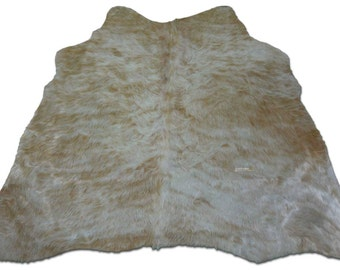 Taupe Cowhide Rug Size: 4.4 X 4.7 ft Taupe/Beige Cow Hide Skin Rug j-292