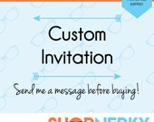 CUSTOM Invitation or thank you card  |  Send me a message before buying