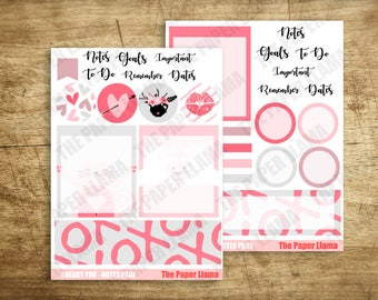 I Heart You - Printable Notes Pages For The ECLP