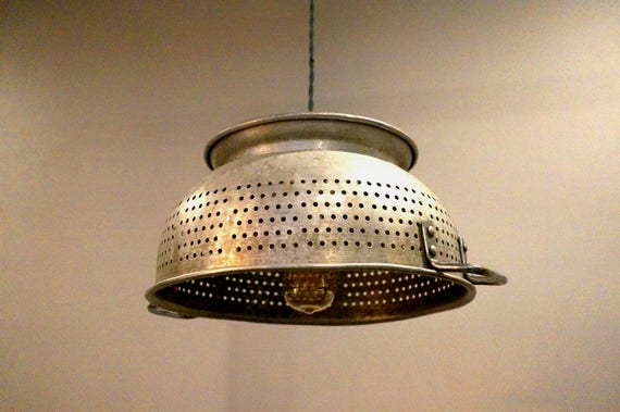 Like this item? & Large Colander Pendant Light Vintage Salvaged Lighting azcodes.com