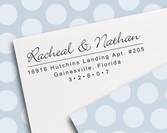Return Address Stamp, Self Inking Address Stamp, Address Stamp, Wedding Address Stamp, Custom Address Stamp (S5534)
