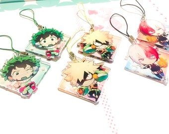 BNHA Charms 2 inch Double-Sided Clear Acrylic (pre-order)