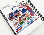 Party Like 1776 // MINI Weekly Planner Kit (Glossy Planner Stickers)