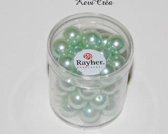 1 x box beads 10mm polished glass - RAYHER - Turquoise