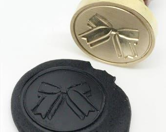 Ribbon Bow Gift Wax Seal Stamp - Xmas gift (STP000025LOV004001)