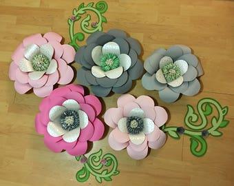 Giant Paper Flowers, paper flowers, wall decor, wedding decor, baby nursery