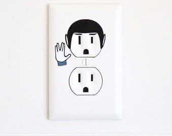 Spock - Star Trek - Electric Outlet Wall Art Sticker Decal