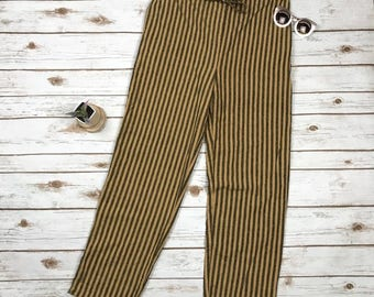 90s Loose Silk Striped Drawsting Pants The Limited