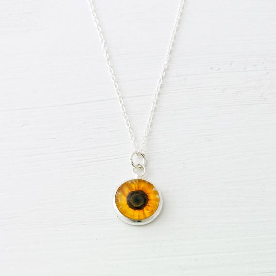 Tiny Sunflower Necklace