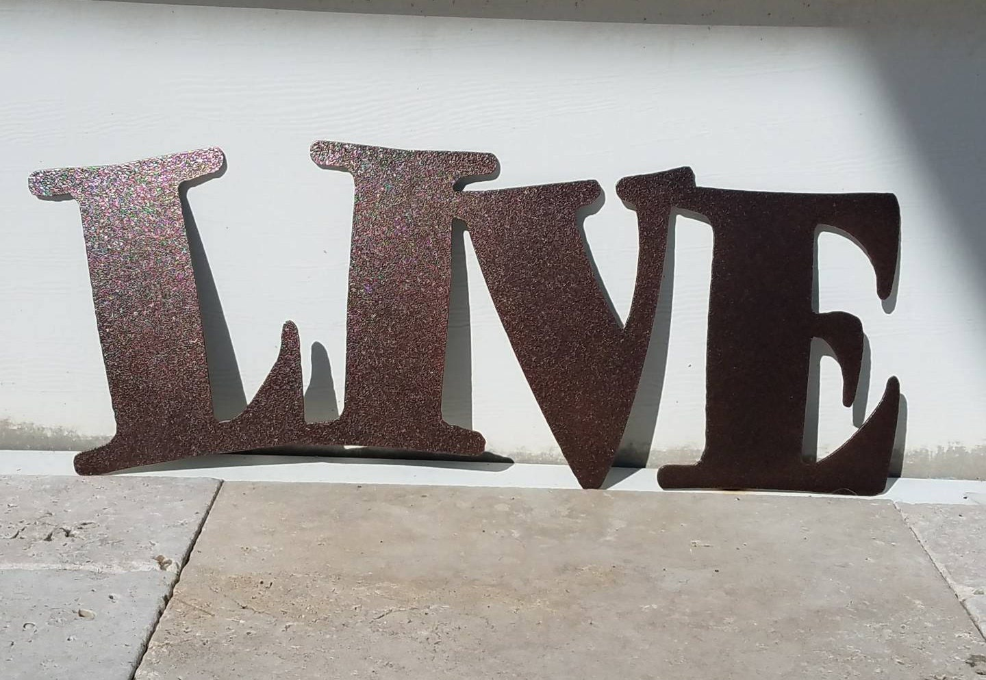 Metal Letters For Outdoor Signs Metal Live Sign  Metal Letters  Metal Wall Art  Live Laugh Love