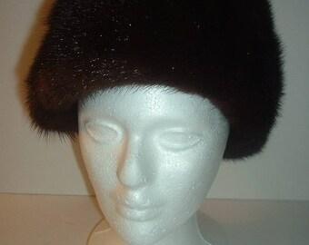 Vintage Adoria Kaufmanns Dark Fur Hat