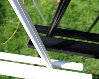 WHITE & BLACK Easels . Metallic, Glitter, or Flat Painted Custom Colors . Large Wood Floor Stand for Foam Board, Canvas, Wood Wedding Sign