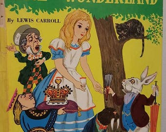 Alice in Wonderland book- Lewis Carroll- 1977