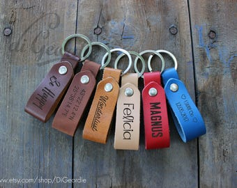 leather key fob coordinate keychain leather keychain man custom keychain monogrammed keychain latitude longitude keychain leather keyring