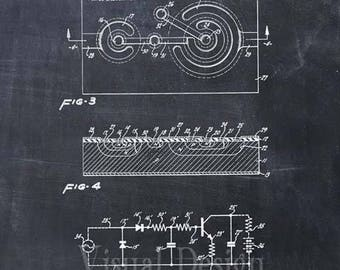 First Semiconductor Patent Print - Semiconductor Patent Art Print - Patent Poster - Computer Art - Technology Art