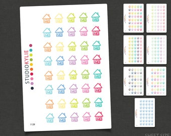 House Icon Planner Stickers  - Repositionable Matte Vinyl