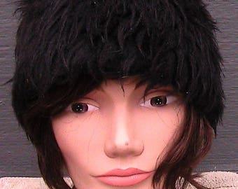 60s fake fur hat