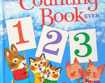 1975 Hardcover Edition of Richard Scarry's Best Counting Book Ever