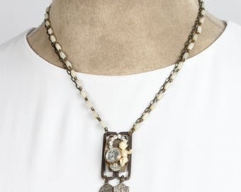 Mother of Pearl Assemblage Necklace