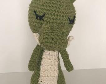 Coco-dragon baby rattle, crochet toy , handmade baby rattle, animal baby rattle,baby rattle, amigurumi rattle, crochet coco-dragon