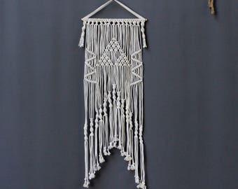 Macrame Wall Hanging, Triangle Wall Art, Modern Macrame, Boho Decor,  Fiber Art, Bohemian, Cotton Macrame, Cotton Tapestry