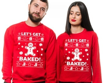 Funny Christmas Ugly Sweater Matching Couple Sweatshirts Gift Sweater for him Gift for her Couple ugly Sweatshirts Christmas Party Sweaters