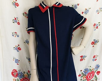 Deadstock! Red White and Blue British invasion shift dress