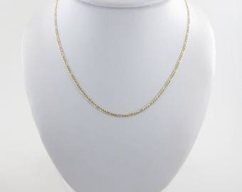 14k Yellow Gold Figaro Chain Necklace 16 Inches - Great Chain For Pendant