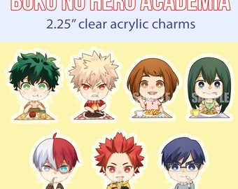 "Hero Lunch 2.25"" Clear Acrylic Charms"