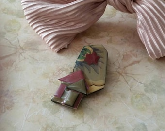 Vintage Ceramic Resin Lucinda Pin Lucinda House Pin The Wild Vintage Rose