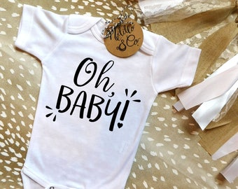 Baby Announcement Onesie®,Coming Soon Baby Announcement,Pregnancy Reveal to Grandparents Onesie,Surprise Baby Onesie,Coming Soon Bodysuit