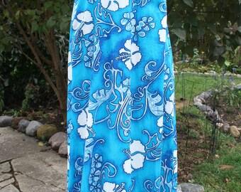 Vintage size 14 / Royal Hawaiian dress / Blue Hawaii / blue Royal Hawaiian dress / size 14 Royal Hawaiian / small Royal Hawaiian dress
