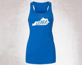 Women's Kentucky Homel Tank / Kentucky Shirt / Racerback Tank / Flowy Tank / Kentucky Girl / Birthday gift / Bluegrass State / Bella+Canvas