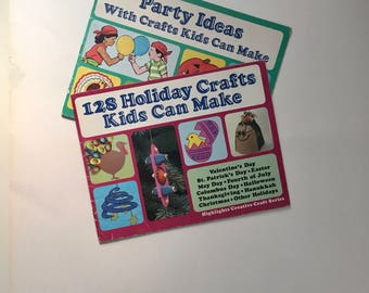 Pair Highlights Kids Holiday Crafts and Party Ideas Paperback Books