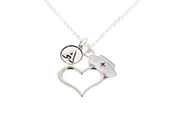 Nurse Necklace, Nursing Gifts, Gift for Nurse, Nursing Student, Nursing Graduation Gifts, Medical Gifts, RN, LPN, MSN, Nursing Jewelry