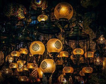Fine Art Photography - The Lanterns of the Grand Bazaar - Photo Canvas - Istanbul - Turkey - Wall Decoration - Travel