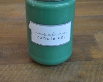 Handcrafted 12 oz Peppermint Eucalyptus Soy Candle in Jar